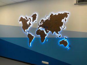 Карта мира изготовление